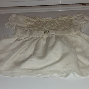 Just Kids White party dress size 6-9 months
